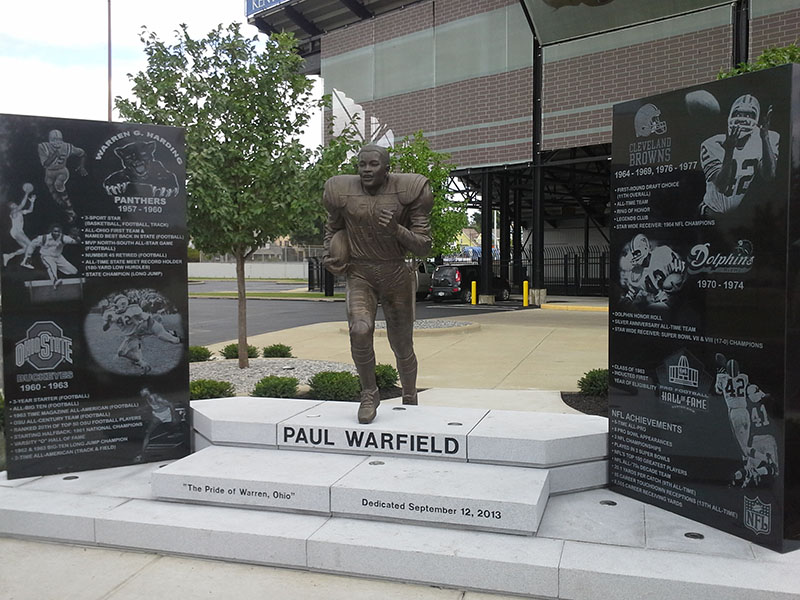 Paul Warfield Project - Memorials and Statue for Warren G. Harding High School in Warren, Ohio